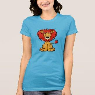 Cute Cartoon Lion Women's T-Shirt