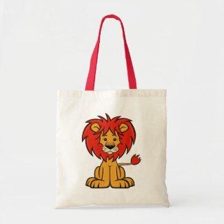 Cute Cartoon Lion Tote Bag