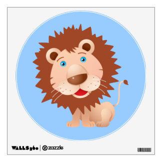 Cute Cartoon Lion Wall Decal
