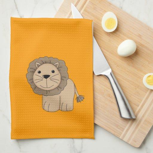 Cute Cartoon Lion Wild Cat Big Cat Kitchen Towel