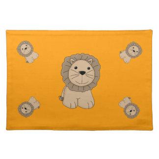 Cute Cartoon Lion Wild Cat Big Cat Placemat
