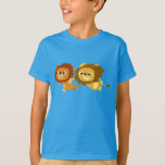 Cute Cartoon Lions in a Hurry Kids T-Shirt