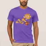 Cute Cartoon Lions' Parade T-shirt