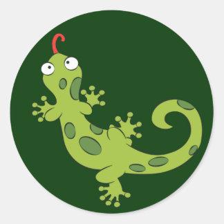 cute cartoon lizard stickers