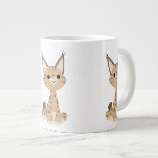 Cute Cartoon Lynx Jumbo Mug