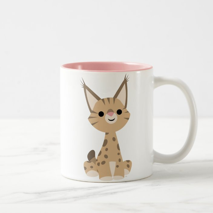 Cute Cartoon Lynx Mug Zazzle Com