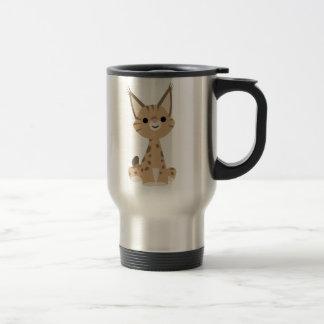 Cute Cartoon Lynx Travel Mug