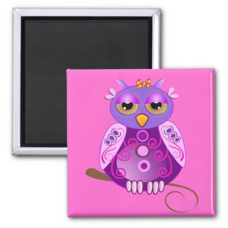 Cute Cartoon magnet with Girly Owl
