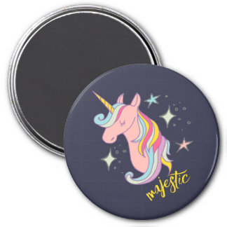 Cute Cartoon Majestic Unicorn Magnet