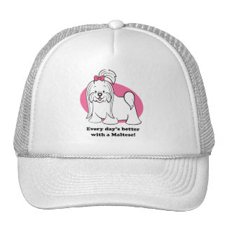 Cute Cartoon Maltese Hat