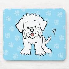 Cute Cartoon Maltese Mousepad