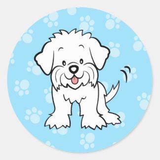 Cute Cartoon Maltese Sticker