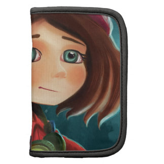 cute cartoon manga girl Rickshaw Folio Folio Planner