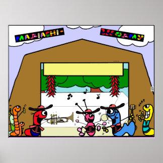 Cute cartoon  Mariachi poster