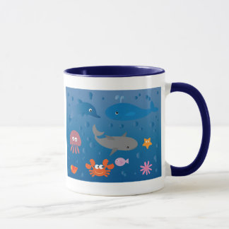 Cute Cartoon Marine Life Mug