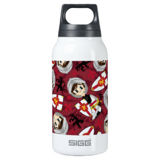 Cute Cartoon Medieval Crusader Knight Insulated Water Bottle