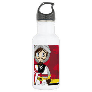 Cute Cartoon Medieval Crusader Knight Water Bottle