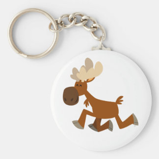Cute Cartoon Merry Moose Keychain