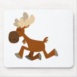Cute Cartoon Merry Moose Mousepad