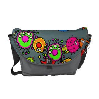 Cute Cartoon Microscopic Germ Wallpaper Courier Bags