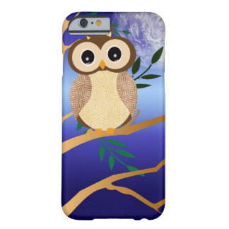 Cute cartoon midnight owl barely there iPhone 6 case