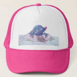 Cute Cartoon Mole and Molehill Trucker Hat