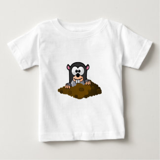 Cute Cartoon Mole Popping Up Out of the Ground Baby T-Shirt