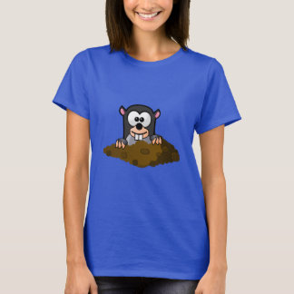 Cute Cartoon Mole Popping Up Out of the Ground T-Shirt