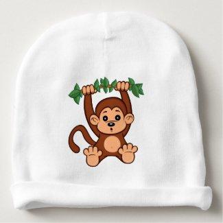 Cute Cartoon Monkey Baby Beanie