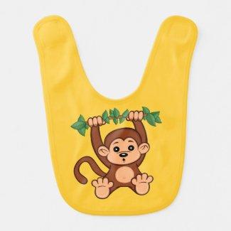 Cute Cartoon Monkey Baby Bib