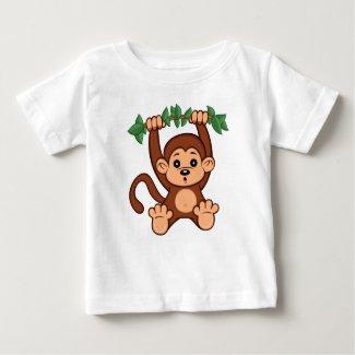 Cute Cartoon Monkey Baby T-Shirt