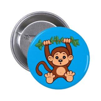 Cute Cartoon Monkey Button