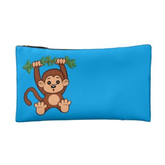 Cute Cartoon Monkey Cosmetic Bag