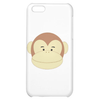 Cute Cartoon Monkey Face iPhone 5C Cover