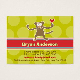 Cute Cartoon Monkey Kid Photo Profile Calling Card