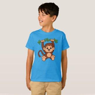 Cute Cartoon Monkey Kid's T-Shirt