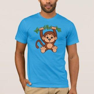 Cute Cartoon Monkey Men's T-Shirt
