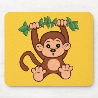 Cute Cartoon Monkey Mouse Pad
