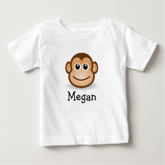 Cute cartoon monkey personalized with childs name baby T-Shirt