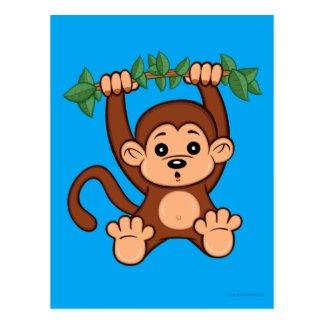 Cute Cartoon Monkey Postcard