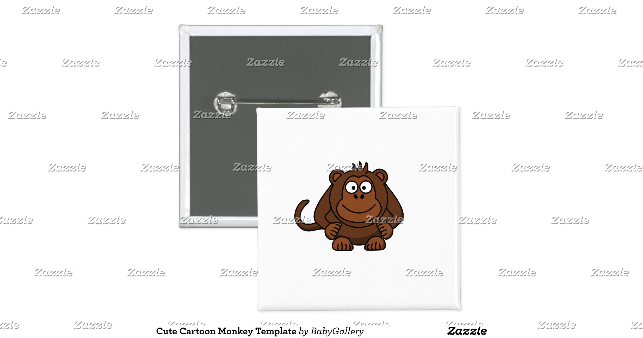 cute cartoon monkey template 2 inch square button rba86aaa4d60248b9b7d659e6167134a5 x7j1a 8byvr. Black Bedroom Furniture Sets. Home Design Ideas