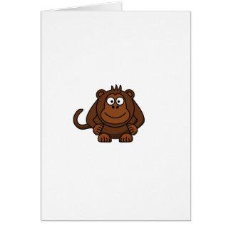 Cute Cartoon Monkey Template Card