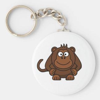 Cute Cartoon Monkey Template Keychain