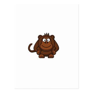 Cute Cartoon Monkey Template Postcard