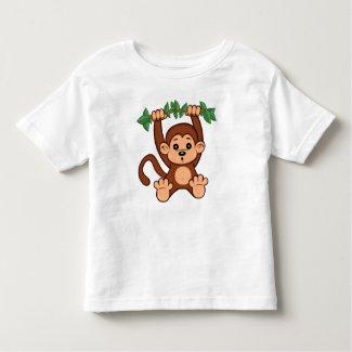Cute Cartoon Monkey Toddler T-Shirt
