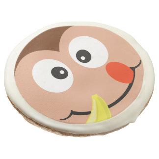Cute Cartoon Monkey With Banana Cookies