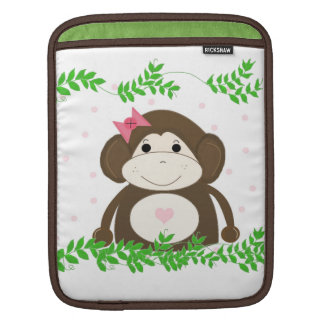 Cute Cartoon Monkey with Vines Sleeves For iPads