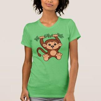 Cute Cartoon Monkey Women's T-Shirt