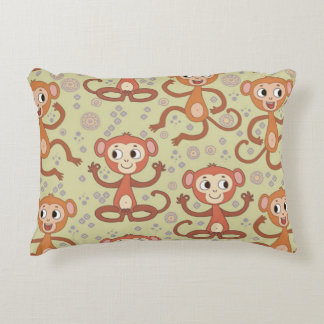 Cute Cartoon Monkeys Accent Pillow