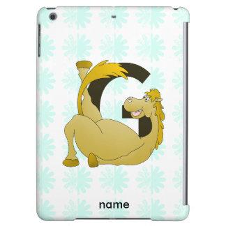 Cute Cartoon Monogram Pony G iPad Air Cases